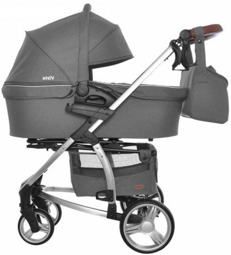Коляска 2 в 1 CARRELLO Vista Steel Grey CRL-6501